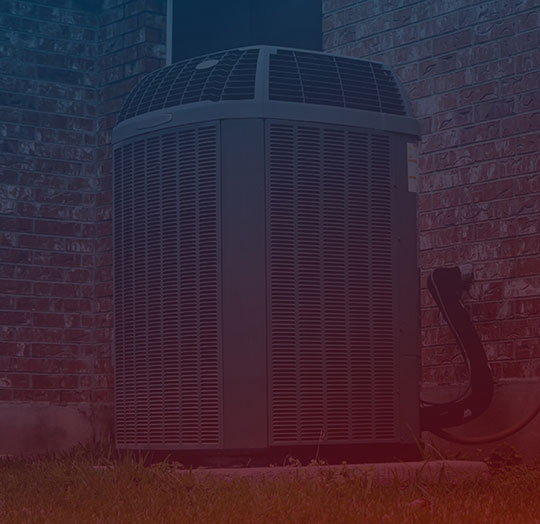 AC unit with gradient overlay
