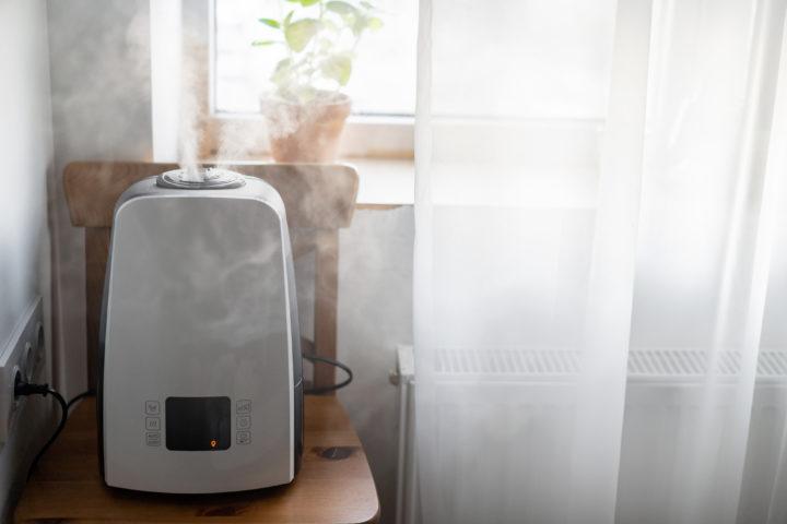 room humidifier near window