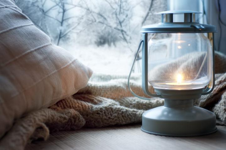 lantern by window