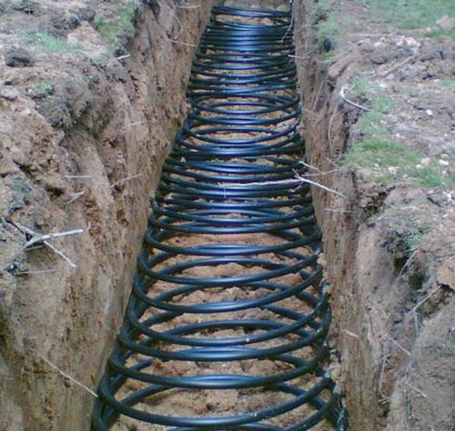 Underground geothermal coils