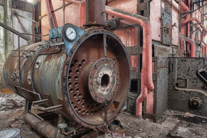 Old rusty furnace