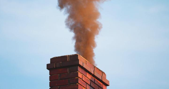 Smoke rising from chimney